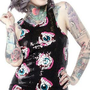 NWT Iron Fist Eye'll Eat You Sequin Dress Size XL